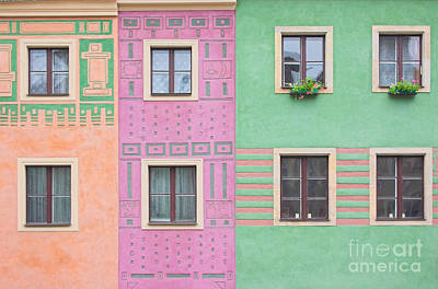 Woods Photograph - Colorful Houses by Michal Bednarek