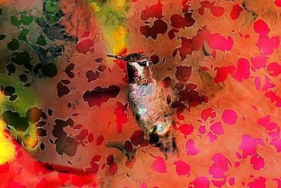 Colorful Hummingbird Art Print