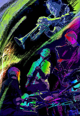 Colorful Jazz Art Print