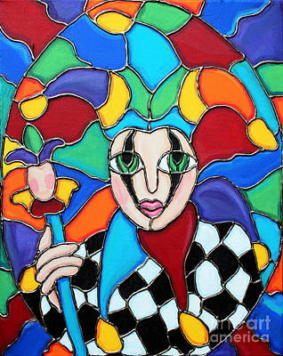 Painting - Colorful Jester by Cynthia Snyder