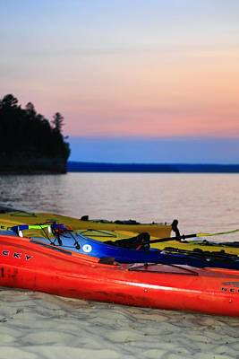 Photograph - Colorful Kayaks At Miners Beach by Dan Sproul