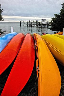 Photograph - Colorful Kayaks by Joan Reese