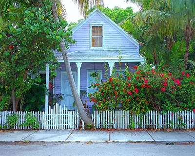 Photograph - Colorful Key West Cottage by Rebecca Korpita