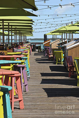 Bar Stools Photograph - Colorful Key West by Sophie Vigneault