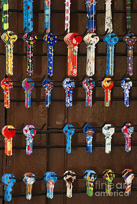 Photograph - Colorful Keys by John Shaw