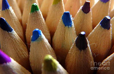 Colour Photograph - Colorful Kids Pencils by Patrick Dinneen