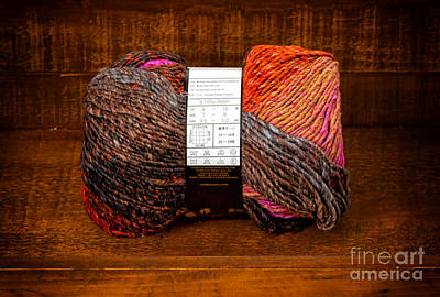 Photograph - Colorful Knitting Yarn In A Wooden Box by Les Palenik