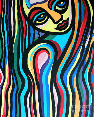 Colorful Lady  Art Print by Cynthia Snyder