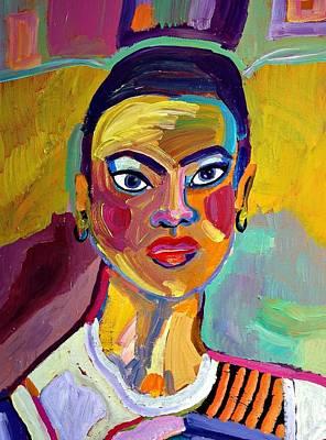 Colorful Lady Art Print