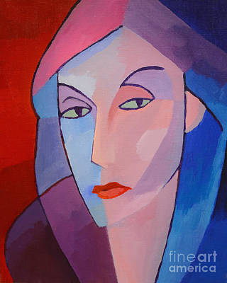 Painting - Colorful Lady by Lutz Baar