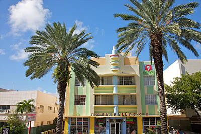 Photograph - Colorful Landmark Art Deco Hotel by Barry Winiker