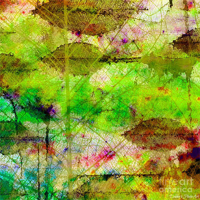 Digital Art - Colorful Leaves Abstract II by Debbie Portwood