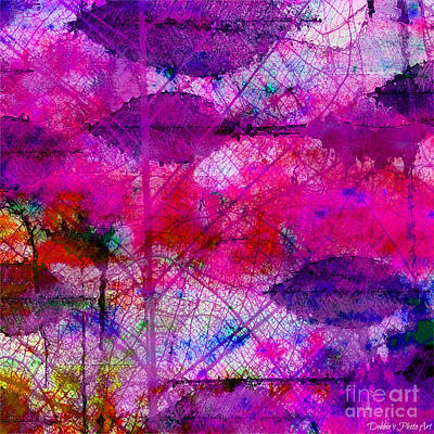 Digital Art - Colorful Leaves Abstract IIi by Debbie Portwood
