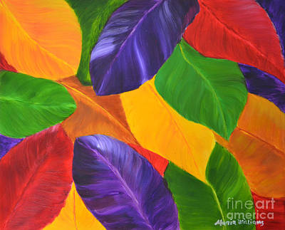 Painting - Colorful Leaves by Maria Williams