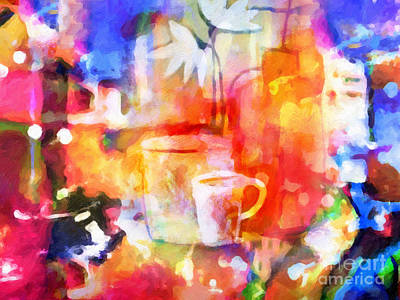 Colorful Still Life Painting - Colorful Life by Lutz Baar