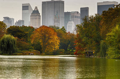 Fall Season Photograph - Colorful Magic In Central Park New York City Skyline by Silvio Ligutti