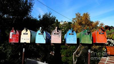 Colorful Mailboxes Art Print by Nina Prommer