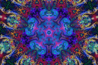 Digital Art - Colorful Mandala Art by Peggy Collins