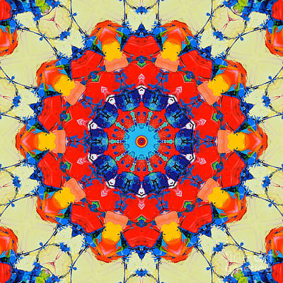 Colorful Mandala Art Print by Ana Maria Edulescu