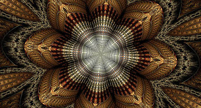 Colorful Metals Kaleidoscope Art Print