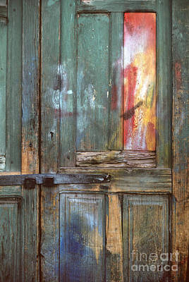 Photograph - colorful Mexico buildings photography - Teal Door by Sharon Hudson