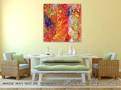 Metallic Painting - Colorful Mixed Media by Julia Fine Art And Photography