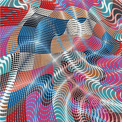 Art Wall Street Wall Art - Digital Art - Colorful Modern Abstract Stained by Alex Landa
