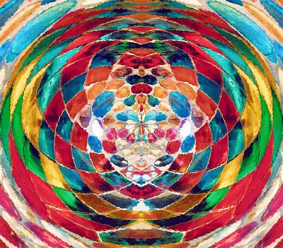 Digital Art - Colorful Mosaic by Alec Drake