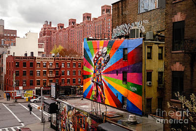 Colorful Mural Chelsea New York City Art Print by Amy Cicconi