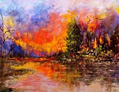 Painting - Colorful Night.. by Cristina Mihailescu