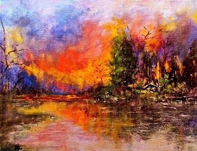 Colorful Night.. Art Print by Cristina Mihailescu