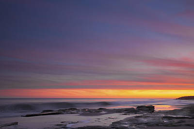 Photograph - Colorful Ocean Sunset At Twilight by Jo Ann Tomaselli