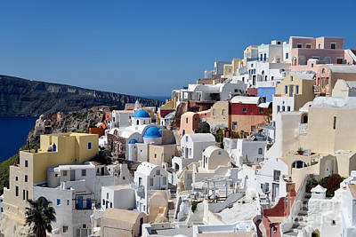 Photograph - Colorful Oia In Santorini Island by George Atsametakis