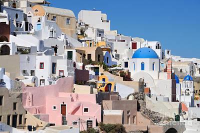 Photograph - Colorful  Oia by George Atsametakis