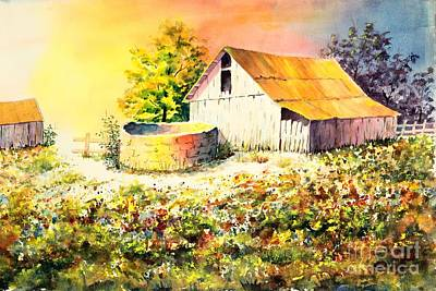 Colorful Old Barn Art Print