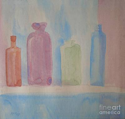 Art Print featuring the painting Colorful Old Friends by Suzanne McKay
