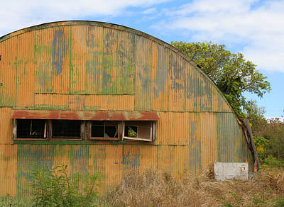 Photograph - Colorful Old Quonset Hut Barn by John Orsbun
