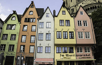 Colorful Old Townhouses Cologne Art Print