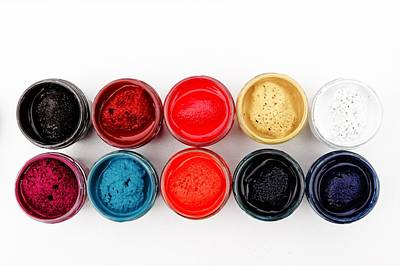 Painted Photograph - Colorful Paint Pots by Matthias Hauser