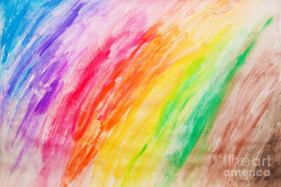 Vibrant Photograph - Colorful Painting Pattern by Michal Bednarek