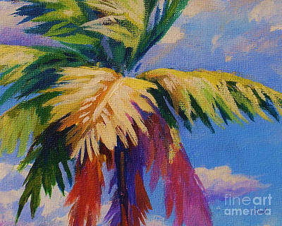 Puerto Rico Painting - Colorful Palm by John Clark