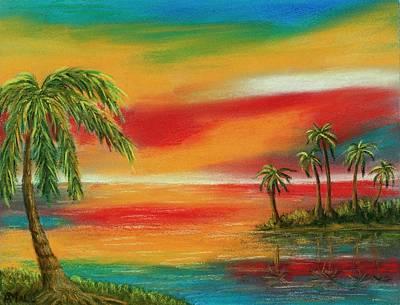 Romantic Painting - Colorful Paradise by Anastasiya Malakhova