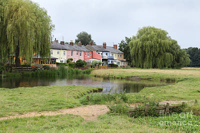 Photograph - Colorful Pastoral Scene In Suffolk by Nicholas Burningham