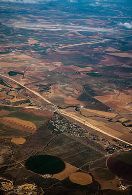 Photograph - Colorful Patchwork Of Andalusian Fields 2. Spain by Jenny Rainbow