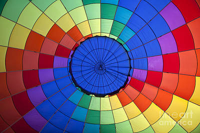 Colorful Pattern Inside A Hot Air Balloon Art Print