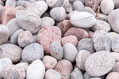 Photograph - Colorful Pebbles by Les Palenik