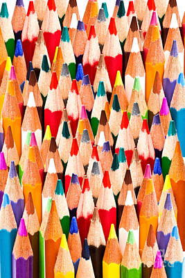 Secretarial Photograph - Colorful Pencils by IB Photo