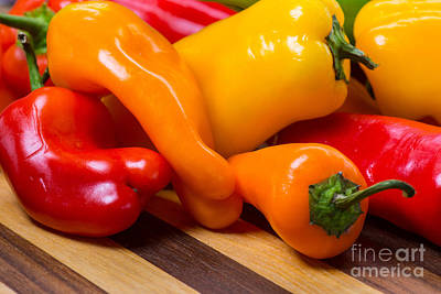 Colorful Photograph - Colorful Peppers by Tod and Cynthia Grubbs