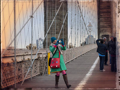Brooklyn Bridge Photograph - Colorful Photographer Carnival  by Frank Winters
