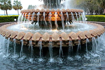 Photograph - Colorful Pineapple Fountain by Carol Groenen